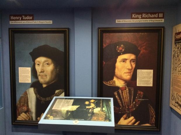 Retratos de los contendientes en Bosworth, Ricardo III y Enrique VII