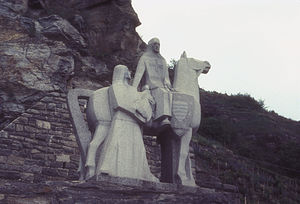 300px-statue_of_blondell_near_durnstein_in_the_wachau_valley